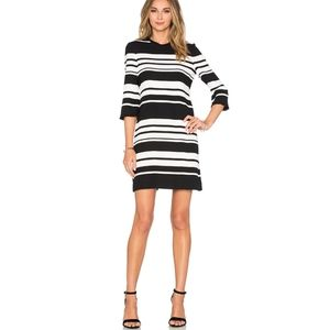 Kate Spade White & Black Stripe Shift Dress